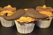 Manly Mo Cupcakes
