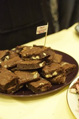 Janis's Snowflecked Brownies