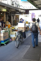 Deliveries to the shops at the market