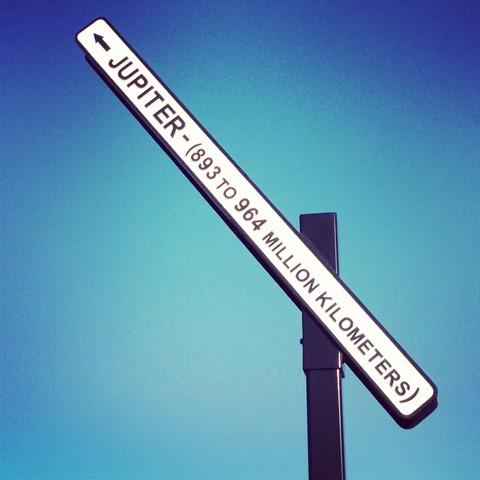 Jupiter this way...