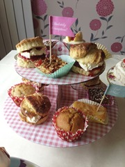 Traybakes, Cream & Jam Scones, Strawberry & White Chocolate Muffins