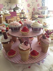Cupcakes and Strawberry Tarts