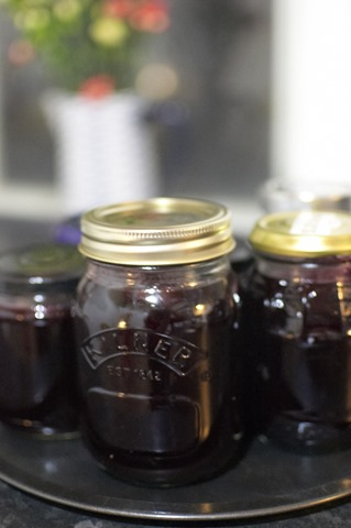 Blackcurrant Jam waiting to be eaten!