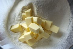 Flour and Butter waiting to be made into breadcrumbs