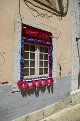 Houses Decorated for the Sardine Festival