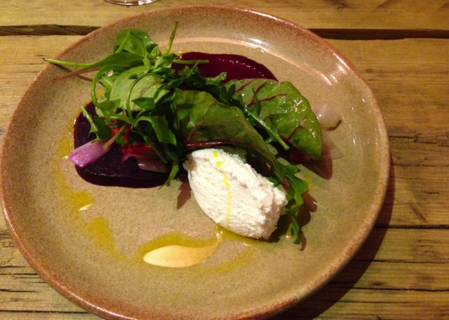 Warm Salad with Caramelised Beetroot and Crowdie Cheese