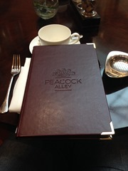 Peacock Alley Menu