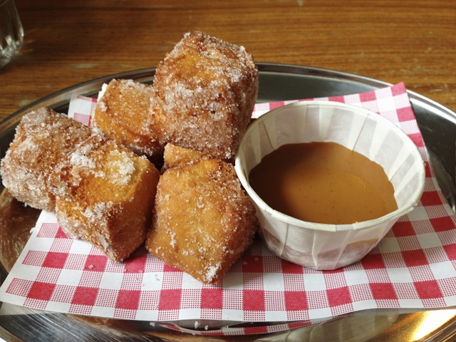 Homemade Donuts with Salted Caramel Dipping Sauce