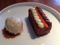Carrot Cake with Pecan Ice Cream