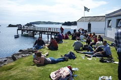 Lagavulin Open Day, lots of people taking in the sun!