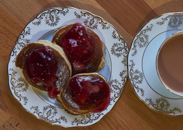 Scotch Pancakes & Plum Jam