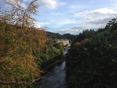 New Lanark from the Clyde Walkway