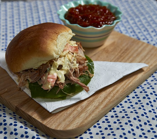 Irn Bru Pulled Pork with Irn Bru Relish