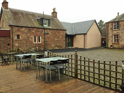 Tea Room Decking and Courtyard