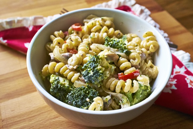 Goats Cheese & Vegetable Pasta